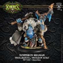 Trollblood Solo Northkin Shaman  inc resin